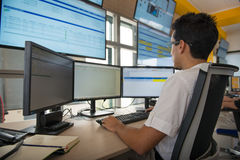 NEW ALSTOM CONTROL ROOM Royalty Free Stock Images