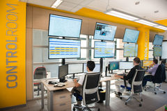 NEW ALSTOM CONTROL ROOM Stock Images