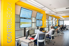 NEW ALSTOM CONTROL ROOM Royalty Free Stock Photo