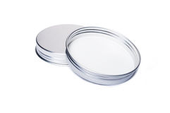 New aluminum caps or lids for jars Royalty Free Stock Photography
