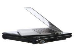 New aluminum laptop computer Stock Photo