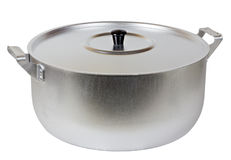 New aluminum pan with cover Stock Image