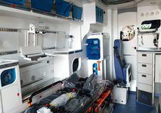 New ambulance stock photo