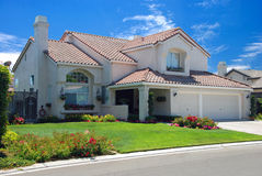 New American dream home Stock Images