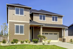 New American home exterior. Stock Image