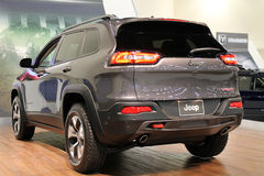 New american iconic suv at auto show Royalty Free Stock Photo