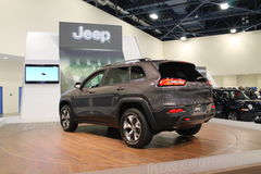 New american iconic suv at auto show Stock Images