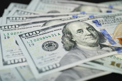 New American One Hundred Dollar bill Royalty Free Stock Photos