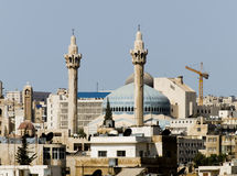 New Amman mosque Royalty Free Stock Photo