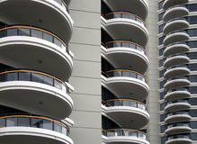 New apartment building. New high-rise apartment buildings with curved balconies Royalty Free Stock Photo