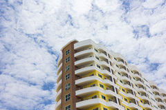 New apartment building. A new apartment building in city Stock Images
