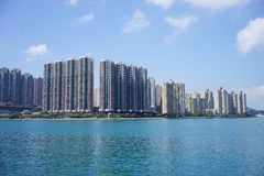 New apartment building near a lake Stock Image