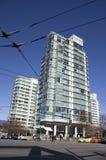 New apartment building neighborhood Royalty Free Stock Photography