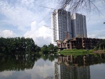 New apartment building under construction. In Hanoi, Vietnam Stock Photos