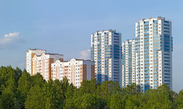 New apartment buildings Stock Images