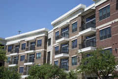 New apartment buildings with balcony background royalty free stock photography