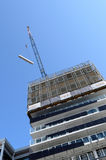 New apartment buildings construction site in Auckland city centr Royalty Free Stock Images