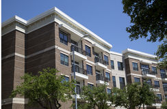 New apartment buildings in modern city stock images