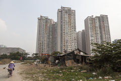 New apartment buildings in Saigon Stock Photography