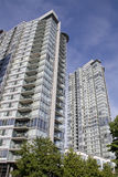New apartment buildings. Stylish modern apartment buildings in Downtown Vancouver BC Stock Photography