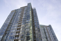New apartment buildings. Stylish modern apartment buildings in Downtown Vancouver BC Stock Image
