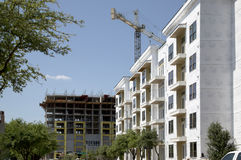 New apartment buildings under construction. In city downtown ,TX USA Royalty Free Stock Photos