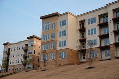 New Apartment Complex ready for occupants Stock Photos