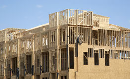 New apartment construction. A new apartment construction background Royalty Free Stock Photography
