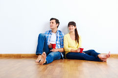 New apartment couple Stock Images