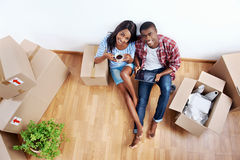 New apartment couple Stock Photos