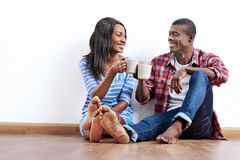 New apartment couple Royalty Free Stock Images