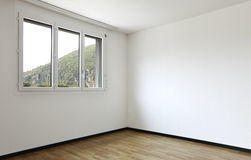 New apartment, empty room stock photos
