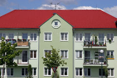 New apartment house. New build apartment house Royalty Free Stock Photos