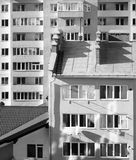 New apartment house. New house. Building. Apartments and windows Stock Images