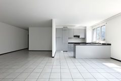 New apartment, kitchen view royalty free stock image