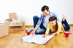 New apartment plans Royalty Free Stock Photo
