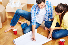 New apartment plans Royalty Free Stock Photos