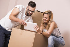 In new apartment Stock Image