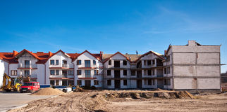 Apartments building under development Stock Photo
