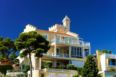 New apartments and old villas in Nice Royalty Free Stock Image