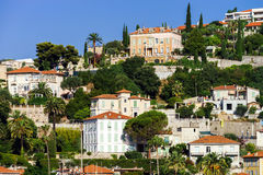 New apartments and old villas in Nice Stock Photo