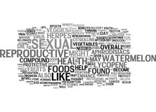 The New Aphrodisiacs Foods For Sexual And Reproductive Heal Text Background  Word Cloud Concept Stock Images