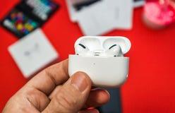 Free New Apple Computers AirPods Pro Headphones Stock Photo - 162537350