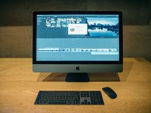 New Apple iMac Pro workstation commuter royalty free stock image