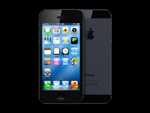 New apple iphone 5. On black Royalty Free Stock Image
