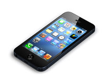 New apple iphone 5. Isolated Stock Photo