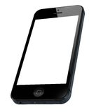 New Apple iPhone 5. With blank screen isolated on white. Include clipping path for phone and screen Stock Photography