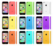 NEW APPLE IPHONE 5C Stock Photos