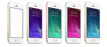 NEW APPLE IPHONE 5S Royalty Free Stock Image