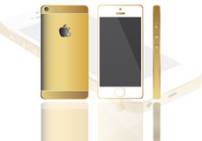 New apple iphone six. New apple iphone  isolated front view and back view Royalty Free Stock Image